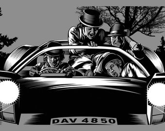 """Clockwork Orange Hogs of the Road print 24"""" x 36"""" signed and numbered"""
