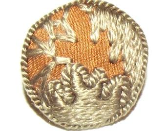 18th Century Fancy Gilt Brass Starburst Front Spun Wood Back Gentleman/'s Coat Button