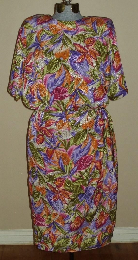 Vintage Tropical Print with a Sash