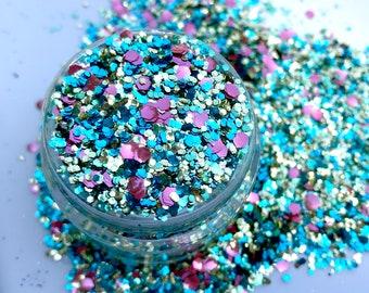 Biodegradable Glitter Makeup, Festival Glitter, Body Glitter, Bioglitter, Eco Friendly Glitter, Chunky Biodegradable Glitter, Rave Festival