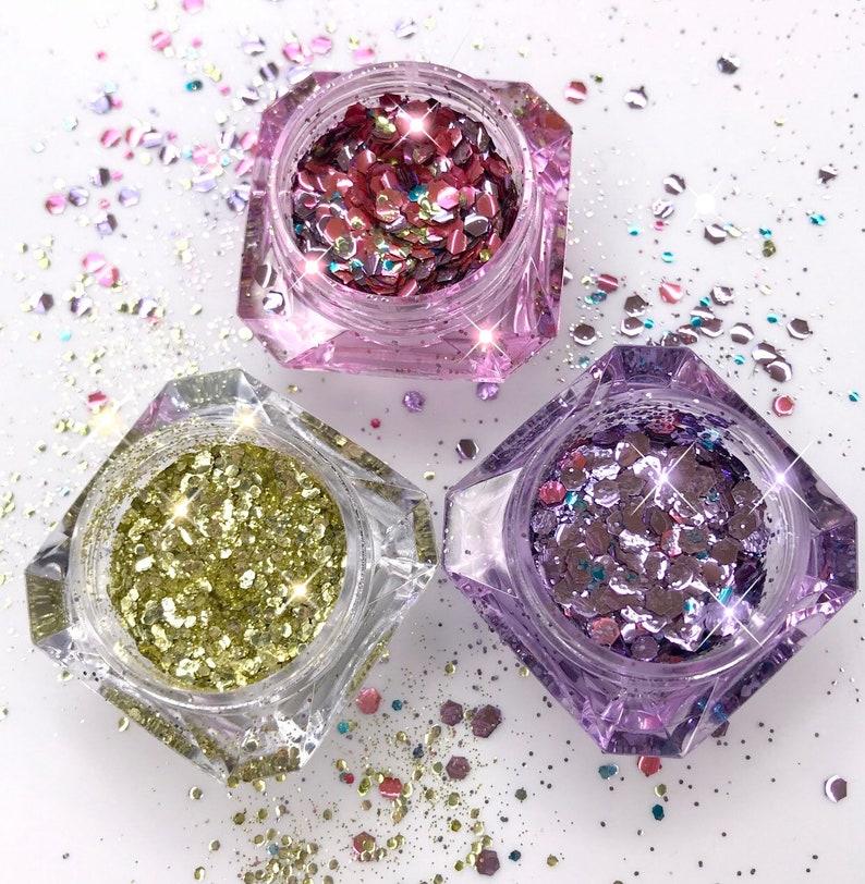 Girly Glitz KitEcoFriendly Glitter Set  Princessa  Purple 5 gram jewel jars