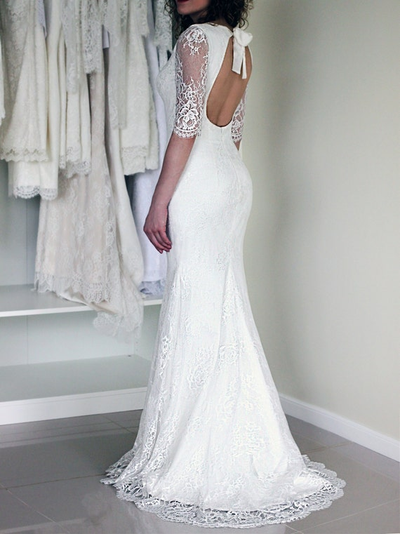 Boho Chic Wedding Dress Open Rug Trouwjurk Lage Rug Lace Dress Sexy Trouwjurk Rustieke Bruiloft Trouwjurk