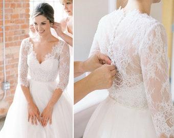 Lace Wedding Bolero, Bridal Bolero, Lace Topper, Lace Cover-up, Lace Jacket, Wedding Bolero