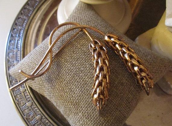 NAPIER Brooch, Golden Wheat Napier Pin, 1960's Bro