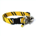 Wizard Breakaway Cat Collar Yellow / Black with Choice of Charms