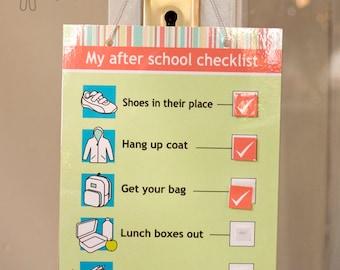 My after school checklist