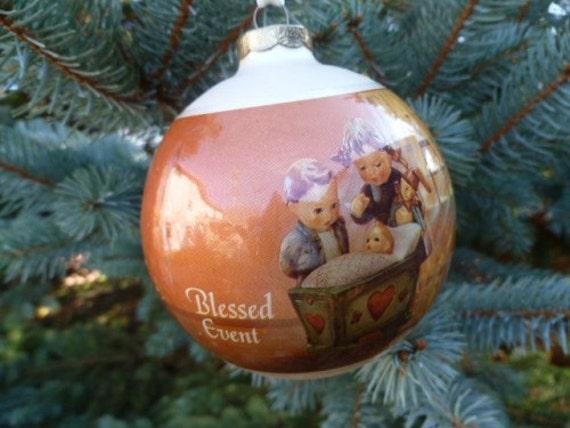 Hummel Christmas Ornaments.Vintage Hummel Christmas Ornament Blessed Event By Goebel 1983