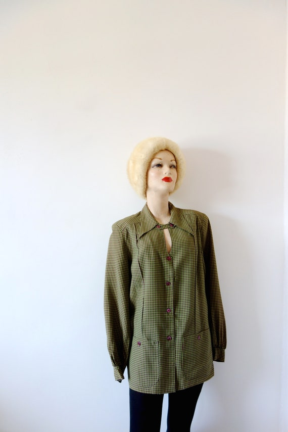 Vintage 1940s Rayon Jacket | Saréze of Miami gingh