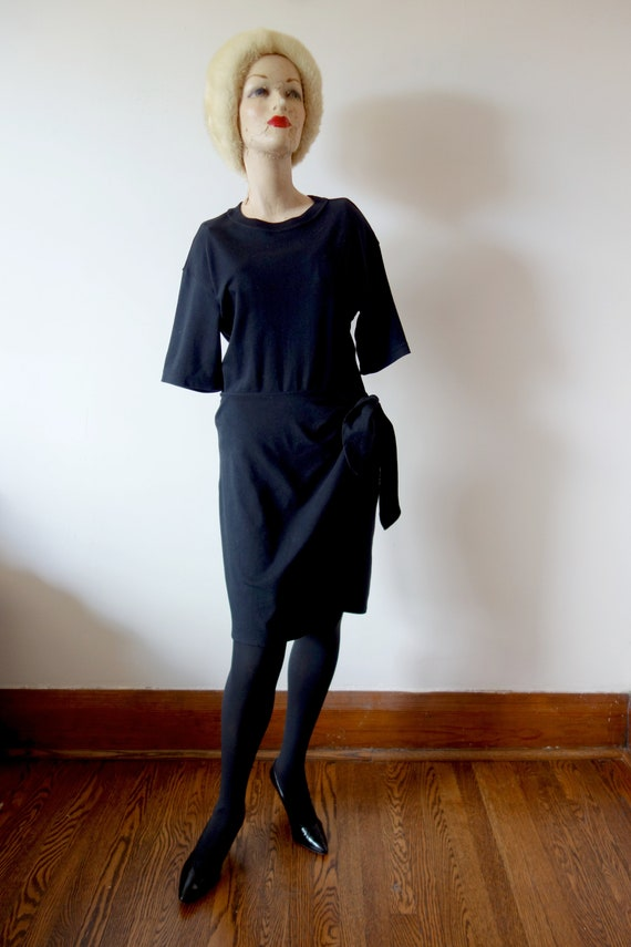 1990s DKNY T-Shirt Wrap Dress