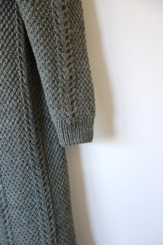 Vintage Hand Knit Sweater Jacket - knit clutch co… - image 6