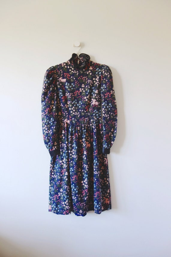 1980s Kathryn Conover Dress - vintage cotton fall