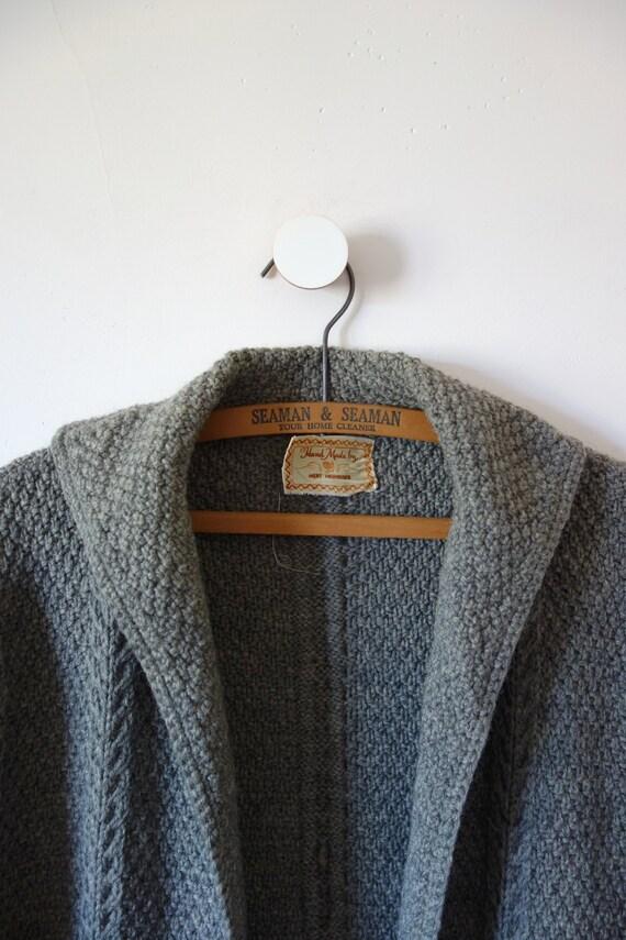 Vintage Hand Knit Sweater Jacket - knit clutch co… - image 4