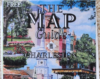 Charleston South Carolina Tourism Map and Guide 1996