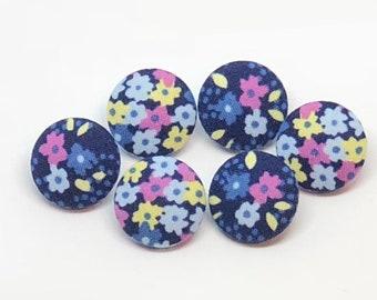 Navy blue thumb tacks