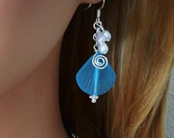 Sea Glass Earrings, Seaglass Earrings Sea Glass Jewelry Wedding Earrings Bridal Earrings Bridesmaid Beach Jewelry Ocean Seaglass Jewelry 096