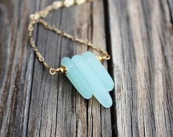 Sea Glass Necklace Seaglass Necklace, Sea Glass Jewelry Beach Jewelry Seaglass Jewelry Beach Glass Necklace Beach Glass Jewelry Delicate 006