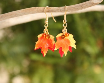 Fall Jewelry, Autumn Jewelry, Fall Earrings, Maple Leaves, Fall Leaves, Autumn Leaf Earrings, Fall Leaf Jewelry, Autumn Earrings, Maple Leaf