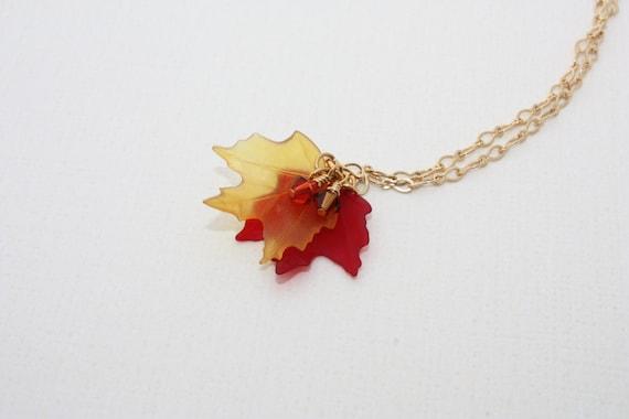 Fall Maple Leaf \u2022 Jewelry Earrings KeyChain Pendant Necklace Cufflinks Tie Clip Ring
