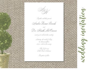 Gray Script Invitation Digital File