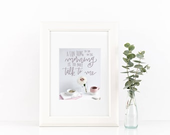 Handlettered Print - Digital Instant Download!