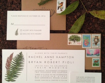 Botanical Fern Wedding Invitation