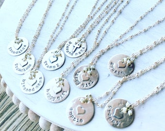 Love You Gold Disc Necklaces