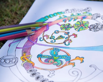Letter E Coloring In