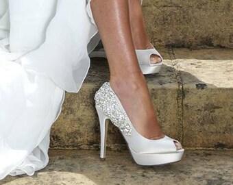 3a1d3755983eb 4 inch bridal heels | Etsy