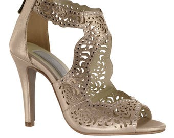 Wedding Shoes - Womens Nude Wedding Shoes 19ad9e33a