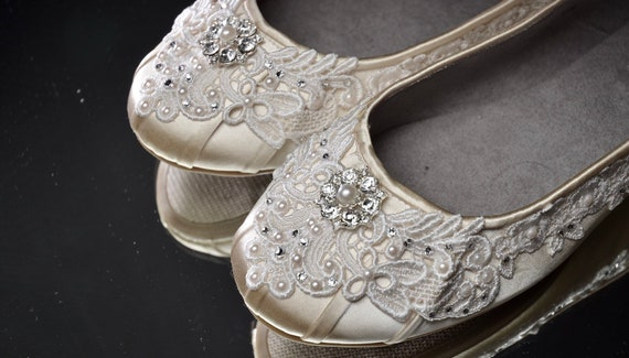 2ddd41b5f Wedding Shoes-FREE Custom Colors Lace Comfortable Perfect