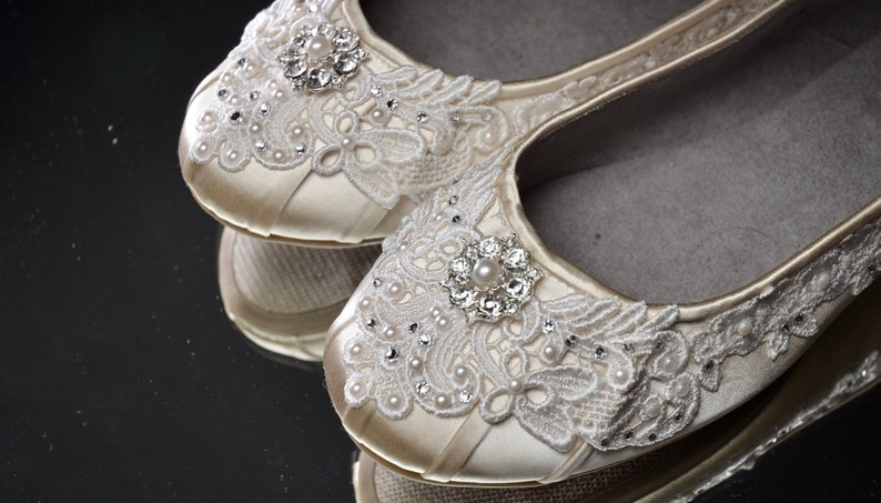 All Color Wedding Shoes Free Custom Colors Comfortable Lace Etsy