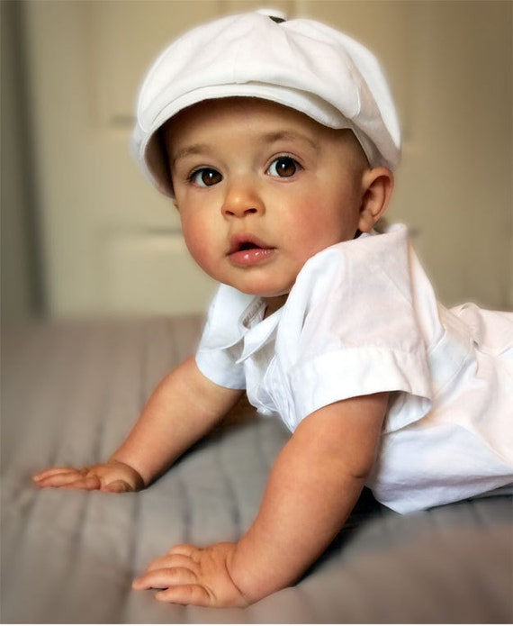 BABY BOY Christening Hat Quality Wedding Baby Boy Newsboy  5090b011799