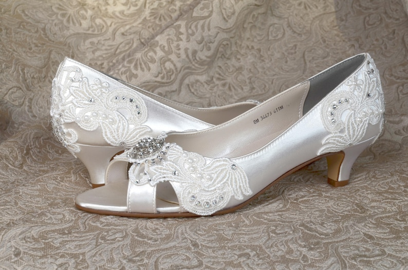 3f0fc165eb8 Wedding Shoes / FREE Custom Colors, Low Heels 1.75