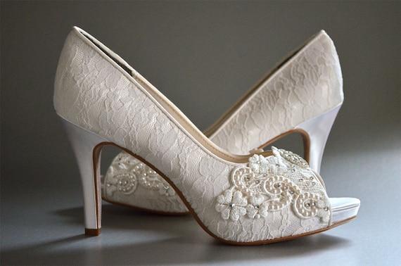 e2c9ac2e128b Lace Wedding Shoes FREE Custom Colors Women s Shoes