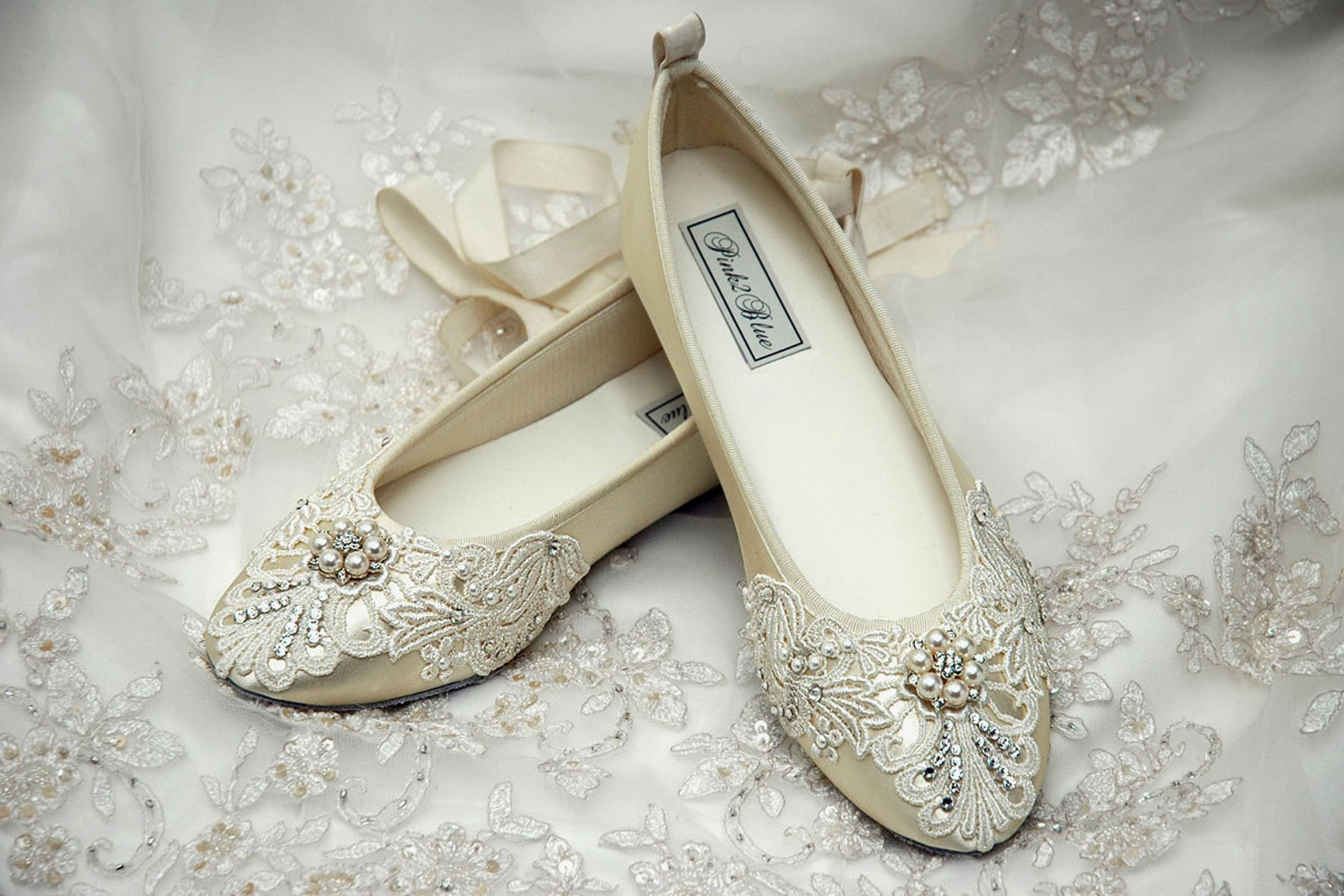 wedding shoes-free custom colors, womens comfort bridal ballet flats vintage lace embellished shoes bridesmaid maid of honor mot
