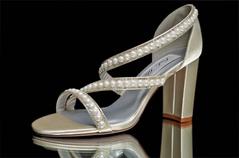 3ca7b96530f027 Wedding Sandal FREE Custom Colors Bridal Classic 3 inch