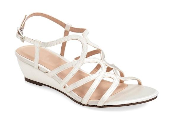Women's Wedding Wedge Shoes Bridal, Bride, Bridesmaid Wedge Shoes Ivory Satin Shoes Wedding Colors Ivory or Navy Bridal 1.5 inch heel