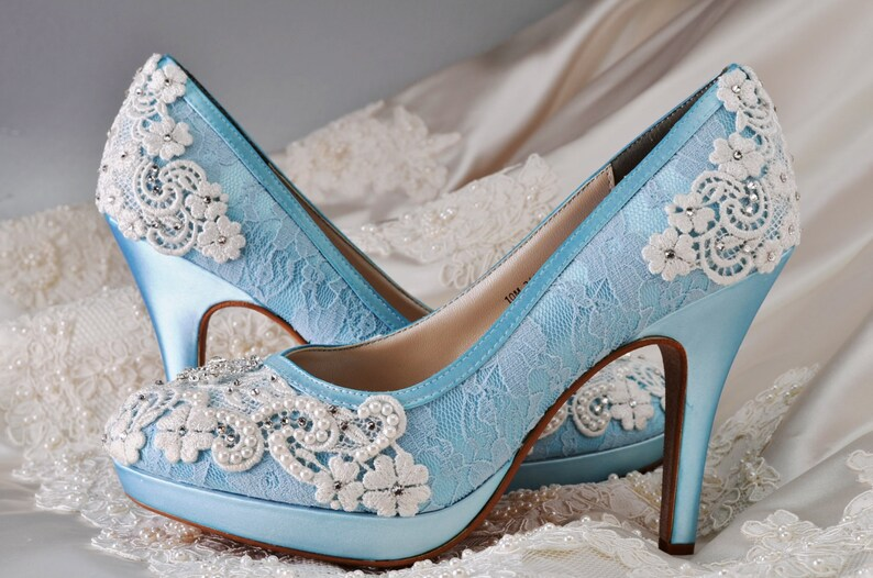 f018708451161 Wedding Shoes Lace Covered Bridal Shoes Womens Wedding Shoes Wedding Heels  Vintage Shoes Wedding Shoes- Women's Bridal Shoes - PBT-0382