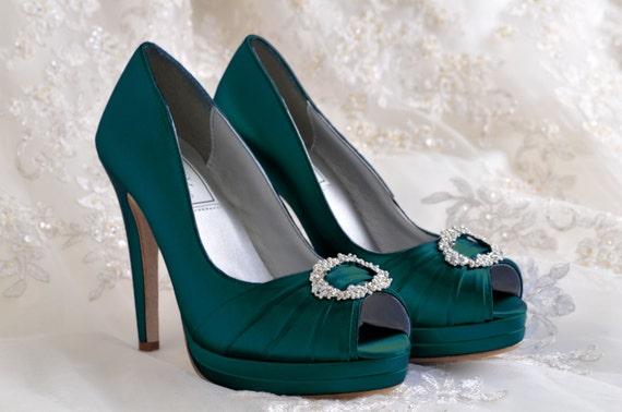 Wedding Shoes Platform Dress Shoes Bridal Peep Toe 4 Inch Etsy