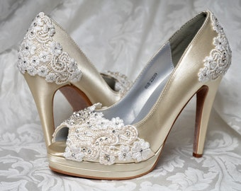 Wedding Shoes - Womens Wedding Heels, Women's Bridal Shoes - Womens Shoes- Wedding Shoes, Accessories, Pink2Blue