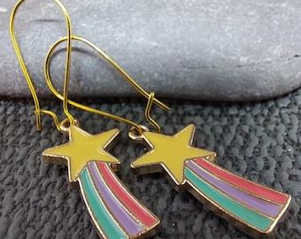 Cute Shooting Star Earrings
