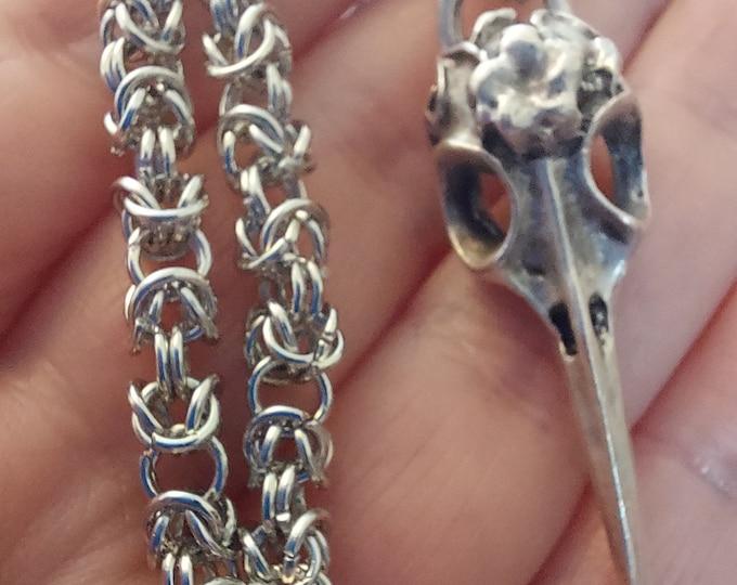 Featured listing image: Byzantine Chainmaille Charm Bracelet - ukhandmade