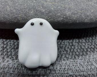 Cute Ghostie / Halloween / lampwork bead / Made To Order / uk / animal bead / jewelry making / loose beads
