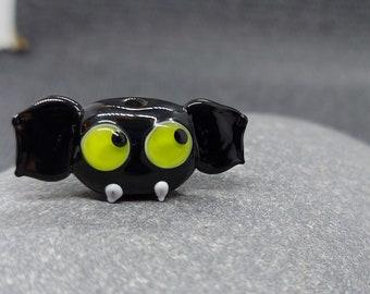 Goofy Bat/ Halloween / lampwork bead / Made To Order / uk / animal bead / jewelry making / loose beads