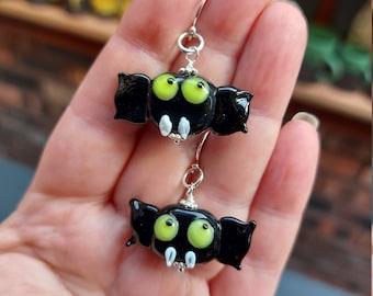 Batty about Halloween Earrings - uk handmade