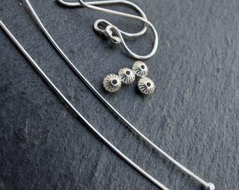 Sterling Silver Earring Upgrade - upgrade a bead pair to a pair of earrings.