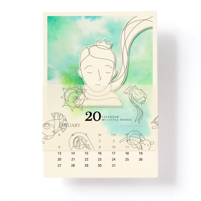 Calendario 2020 Da Colorare Per Bambini.Little Prince Calendario Da Tavolo 2020 4x6 Etsy