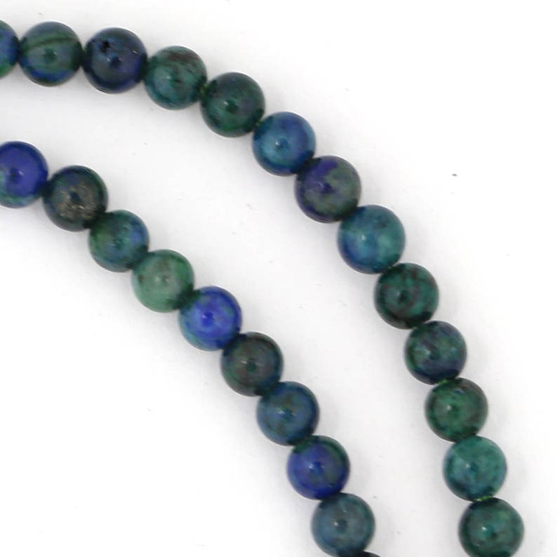 Chrysocolla Beads  4mm Round image 0