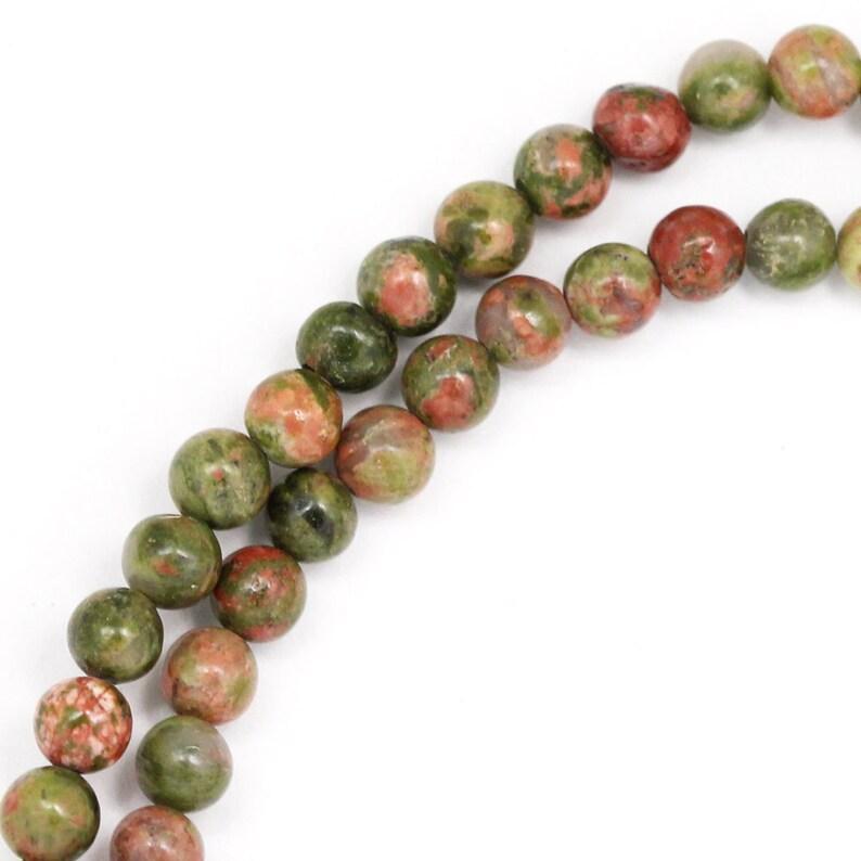 Unakite Beads  4mm Round image 0