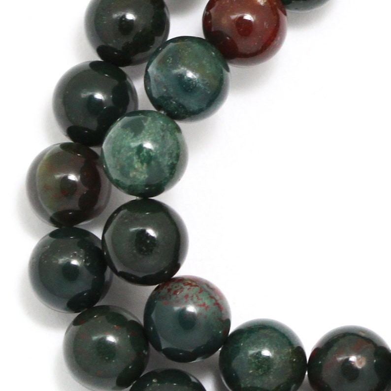 Indian Bloodstone Beads  8mm Round image 0